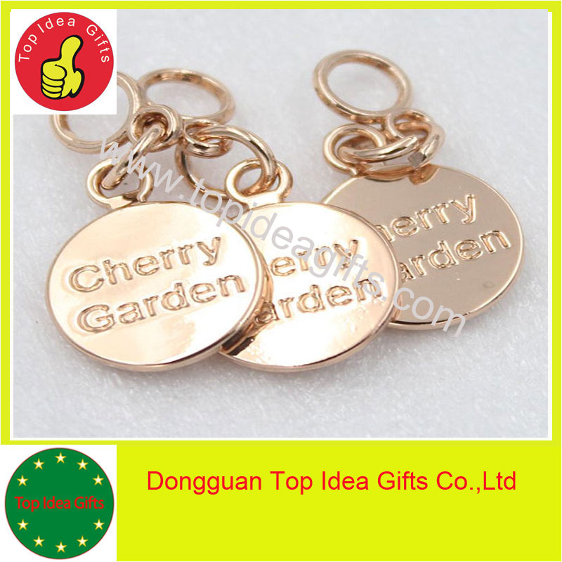 custom engraved metal jewelry tags personalized logo pendant